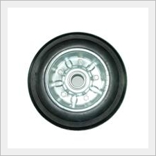 Light Duty Black Rubber Wheel With Single Bearing